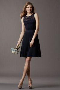 Short Black Bridesmaid Dresses