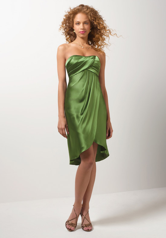 Green bridesmaid dresses dressed up girl for Short green wedding dresses