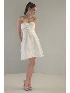 Short White Bridesmaid Dresses