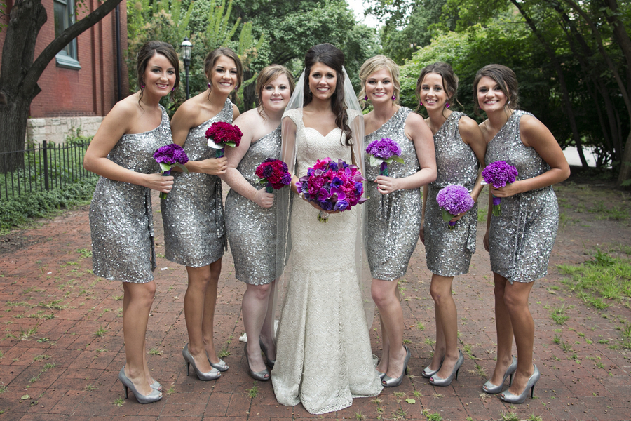Bridesmaid Dresses With Purple Flowers Fashion Dresses