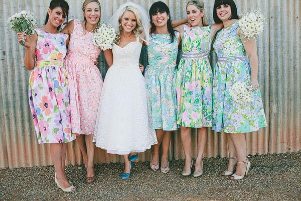 Vintage Fl Bridesmaid Dresses