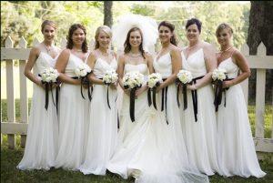 White Bridesmaid Dresses Long