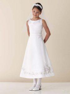 White Junior Bridesmaid Dresses