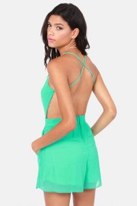 Backless Romper Images
