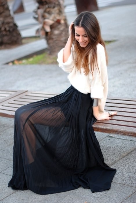 Long Black Maxi Skirt | Dressed Up Girl