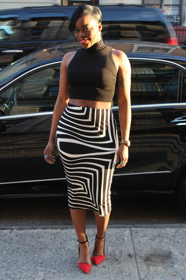 Black and White Pencil Skirt | Dressed Up Girl