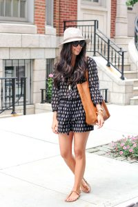 Black and White Romper Outfit