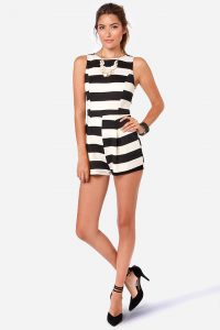 Black and White Rompers