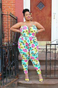 Floral Jumpsuit Plus Size