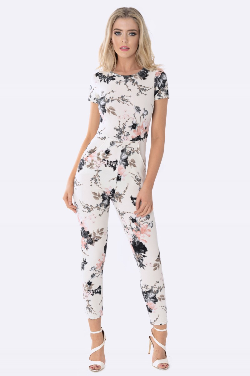 Floral Jumpsuit | Dressed Up Girl