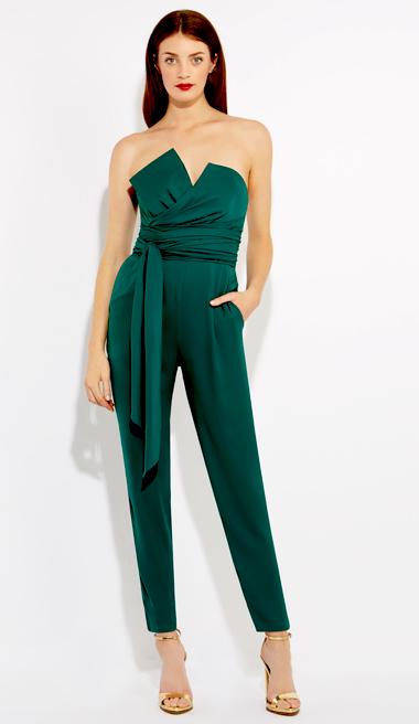 Green Jumpsuit Dressedupgirl Com