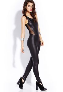 Leather Jumpsuit Women