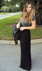 Long Black Maxi Skirt Outfits