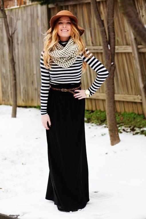 Long Black Maxi Skirt | Dressed Up Girl