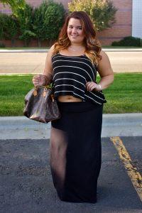 Long Black Maxi Skirt Plus Size
