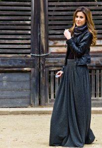 Long Maxi Black Skirt