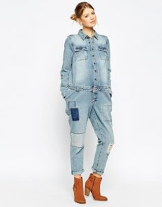 Maternity Denim Jumpsuit