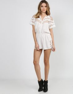 Short Sleeve Romper Womens