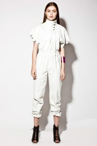 White Leather Jumpsuit