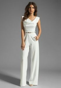 White Pants Romper