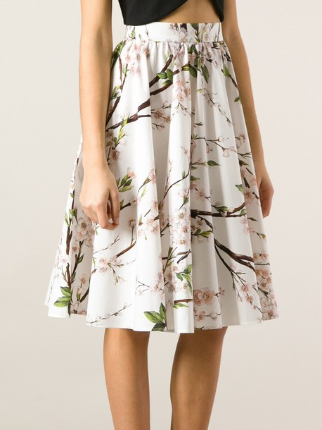 Floral A Line Skirt - Dress Ala