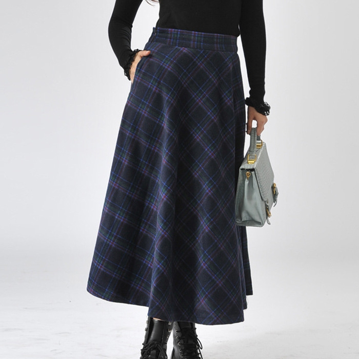 Womens A-line Long skirt length fall at mid line calf Great for more formal functions.