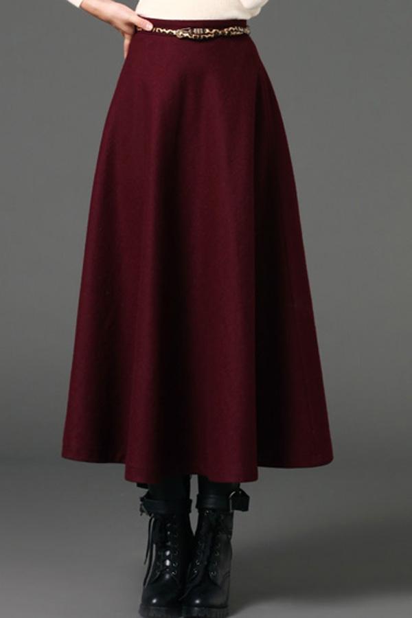 a line skirt dressed up