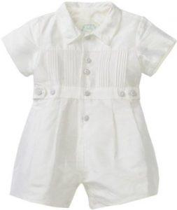 Baby Boy White Romper