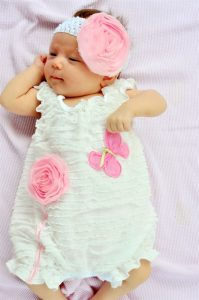 Baby Girl White Romper