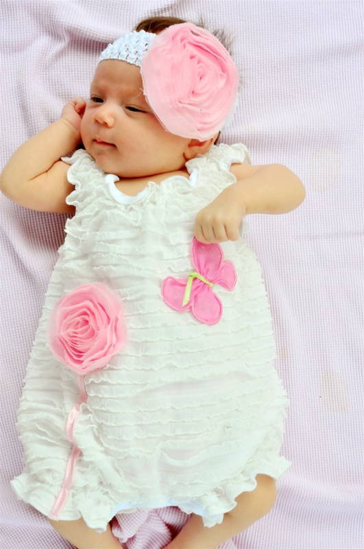 Baby Girl Rompers Dressed Up Girl