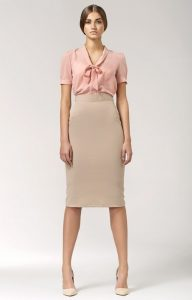 Beige Pencil Skirts
