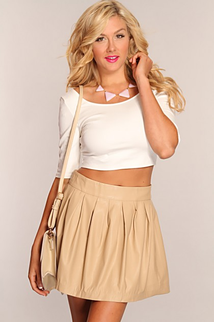 Beige Skirt | Dressed Up Girl