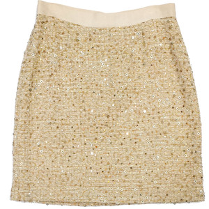 Beige Sequin Skirt