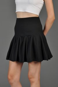Black Gored Skirt