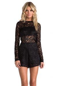 Black Lace Romper Pictures