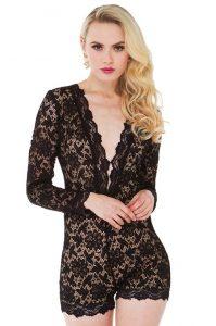 Black Lace Romper Images