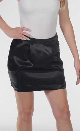 Black Satin Skirt - Dress Ala