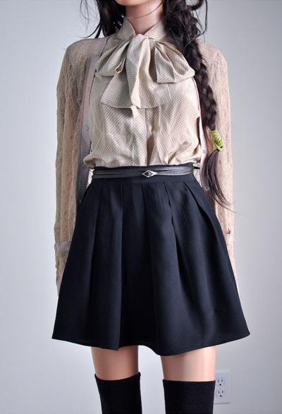 Uniform Skirts Dressed Up Girl