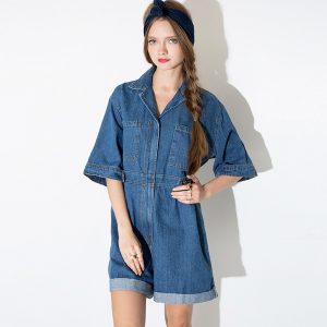 Blue Jeans Rompers