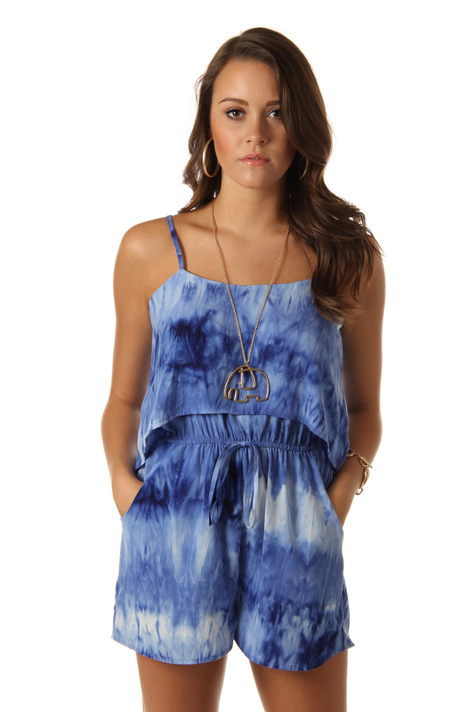 Tie Dye Romper Dressed Up Girl