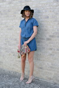 Chambray Romper Old Navy