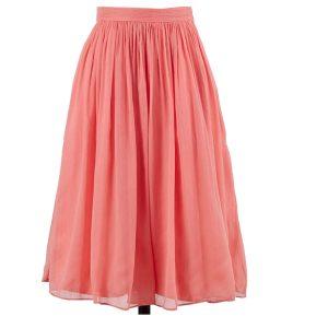 Coral Bridesmaid Skirt