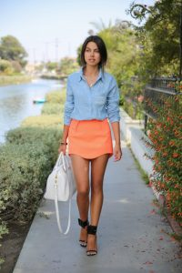 Coral Skirt Outfit