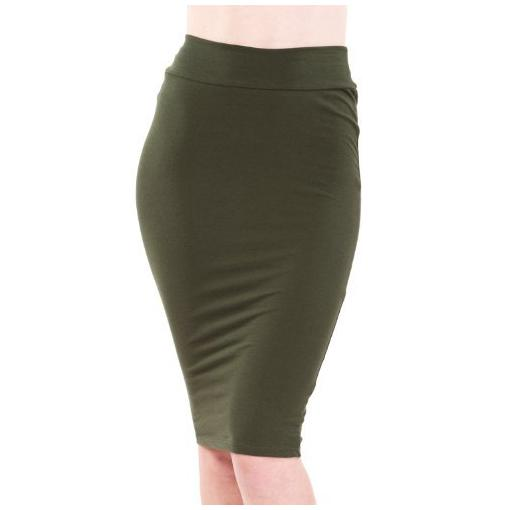stretch pencil skirt dressed up