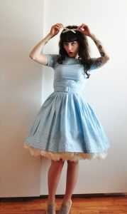 Dress with Petticoat Skirt