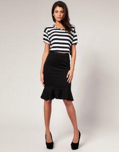 Fishtail Pencil Skirt