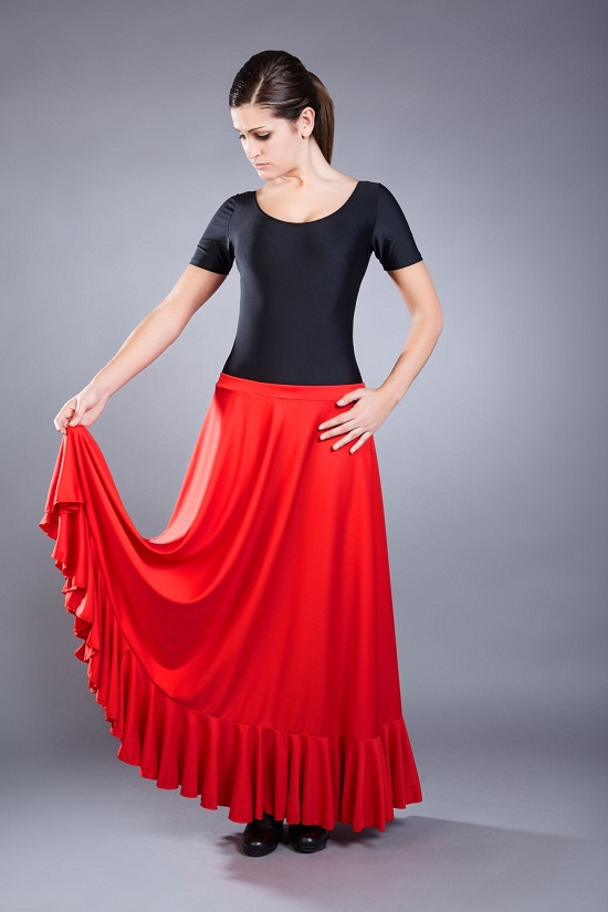 Flamenco Skirt Dressed Up Girl