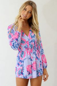 Floral Romper Long Sleeve
