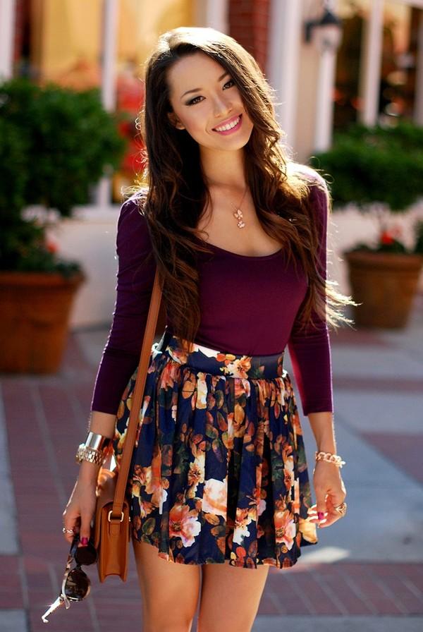 Flower Mini Skirt - Dress Ala
