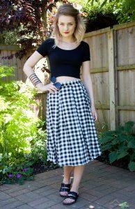 Gingham Skirt Images